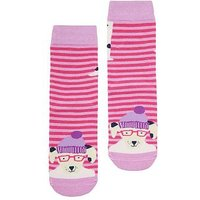 Joules Girls Dalmation NeatFeet Socks, Pink, Size 13-3, Women