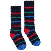 Joules Boys Fluffy Stripe Socks, Multi, Size 13-3