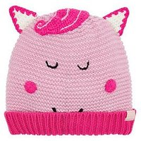 Joules Girls Horse Knitted Hat - Pink, Pink, Size 8-12 Years