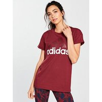 adidas Essentials Linear Tee - Red , Red, Size Xl, Women