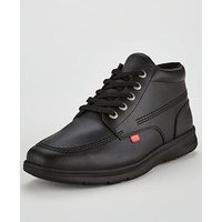 Kickers Kelland Leather Lace Hi Boot, Black Leather, Size 12, Men