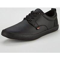 Kickers Kariko Leather Gibb Lace Up Shoe, Black Leather, Size 9, Men