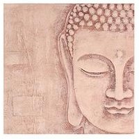 Product photograph showing Arthouse Soft Rose Gold 3d Buddha Wall Art