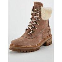 Timberland Timberland Courmayeurvalley Shearling Calf Boot, Taupe/Grey, Size 5, Women