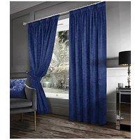 Laurence Llewelyn-Bowen Scarpa Pleated Curtains In Indigo