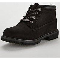 Timberland Timberland Nellie Chukka Double Ankle Boot, Black Nubuck, Size 6, Women