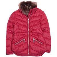 Barbour International Girls Velencia Quilt Jacket - Pink, Red, Size 2-3 Years, Women