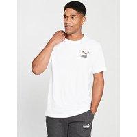 Puma Wild Pack Camo T-Shirt, White, Size Xl, Men