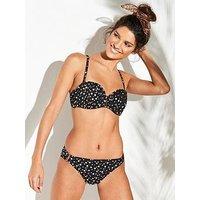 DORINA Cannes Bandeau Bikini Top - Black, Black, Size 36Dd, Women