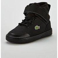 Lacoste Lacoste Infant Explorateur Classic High Top, Black, Size 7 Younger