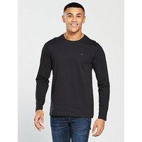 V by Very Long Sleeved T-Shirt, Black, Size S, Men
