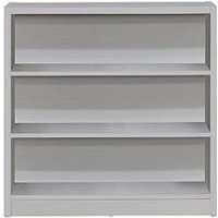 Product photograph showing Home Essentials - Metro Small Wide Bookcase - Grey