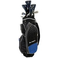 Ben Sayers M8 Package Set - Cart Bag - Men's Right Hand + 1 Inch, Blue, Men