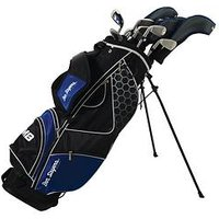 Ben Sayers M8 Mens Left-handed Package Set Stand Bag, Blue, Men