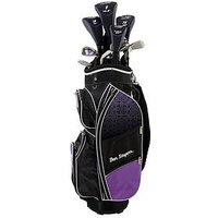 Ben Sayers M8 Package Set Cart Bag Ladies Right Hand, Purple, Women