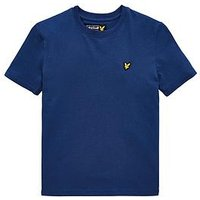 Lyle & Scott Boys Classic Short Sleeve T-shirt, Blue, Size 5-6 Years