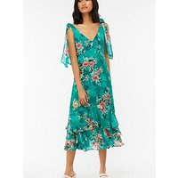 Monsoon Bailey Print Midi Dress - Teal