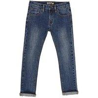 Lyle & Scott Boys Classic Skinny Denim Jeans, Blue Wash Denim, Size Age: 3-4 Years