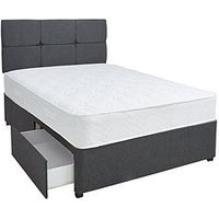 Product photograph showing Airsprung New Eleanor 1200 Pocket Comfort Divan Bed With Storage Options