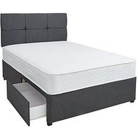 Airsprung New Eleanor 1200 Pocket Memory Divan Bed With Storage Options