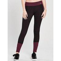 Puma Ambition Mesh Leggings - Black , Black, Size S/10, Women
