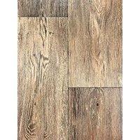 Dark Aged Oak Effect Vinyl Flooring