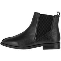 Accessorize Chelsea Leather Ankle Boot - Black , Black, Size 42, Women