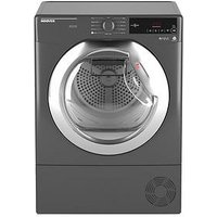 Hoover Dynamic Next Dxc8Tcer 8Kg Load, Aquavision Condenser Tumble Dryer With One Touch - Graphite/Chrome