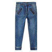 Mango Boys Cuffed Jog Jeans, Medium Blue, Size Age: 4-5 Years