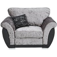 Product photograph showing Alexa Fabric And Faux Leather Armchair