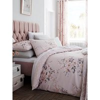 Product photograph showing Catherine Lansfield Canterbury Glitter Duvet Cover Set