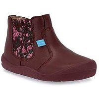 Start-rite Girls First Chelsea Baby Boot, Wine, Size 4.5 Younger