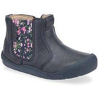 Start-rite Girls First Chelsea Baby Boot, Navy Floral, Size 5 Younger