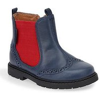 Start-rite Digby Boys Chelsea Boot, Navy, Size 12 Younger