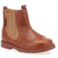 Start-rite Digby Boys Chelsea Boot, Tan, Size 10.5 Younger