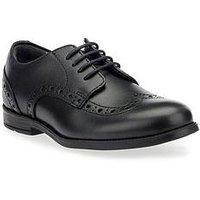 Start-rite Girls Bts Brogue Shoe, Black, Size 10 Younger
