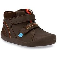 Start-rite Burst Boys First Ankle Boot, Brown, Size 5.5 Younger