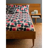 Product photograph showing Orla Kiely House Sycamore Seed Cotton Duvet Cover