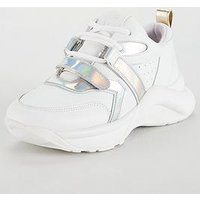 KURT GEIGER LONDON Kurt Geiger Lex Trainer, White, Size 3, Women