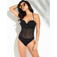 Pour Moi Puerto Rico Padded Swimsuit - Black, Black, Size 32Dd, Women