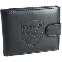 Official Football Leather Wallet with Embossed Crest - Liverpool, Chelsea, Manchester City, Tottenham, One Colour, Size Manchest