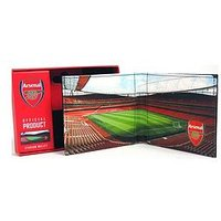 Official Football Stadium Image Wallet with Embossed Logo and Gift Box -Liverpool, Chelsea, Manchester City, Tottenham, One Colo