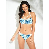 Pour Moi Reef Halter Lightly Padded Top, Blue, Size 32C, Women