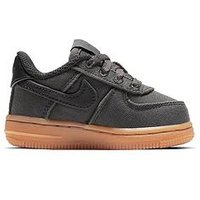 Nike Nike Air Force 1 LV8 Style Infant Trainer, Black/Black, Size 4