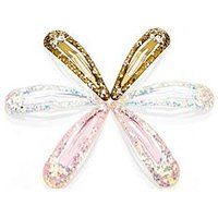 Mini V by Very Girls Multi Pack Glitter Clips, One Colour