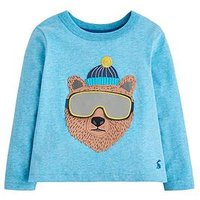 Boys, Joules Chomp Bear T-shirt - Blue, Blue, Size 4 Years