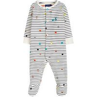 Joules Baby Boys Ziggy All Over Print Babygrow, Navy, Size 9-12 Months