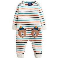 Joules Baby Boys Fife Bear Stripe Babygorw, Multi, Size 6-9 Months