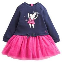 Joules Toddler Girls Layered Tutu Dress, Navy, Size 2 Years, Women