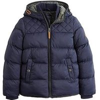 Joules Boys Everett Padded Coat, Navy, Size Age: 5 Years
